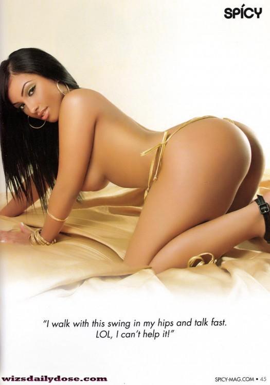 image Spicy latina yasmine de leon gets naked and fucks hard naughty america